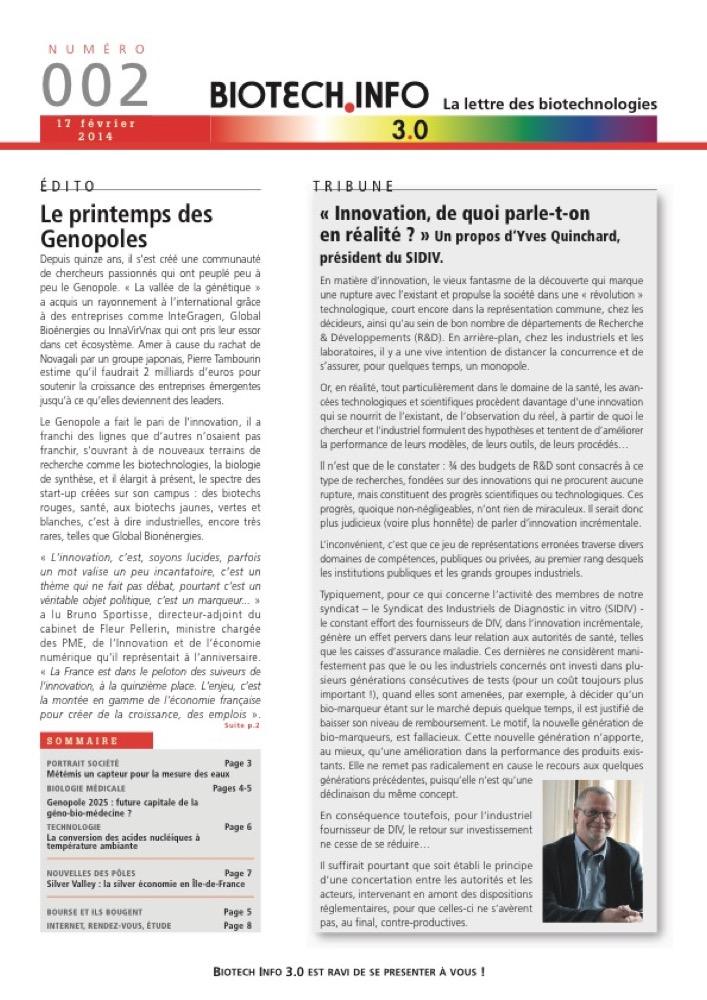 biotech info apercus page