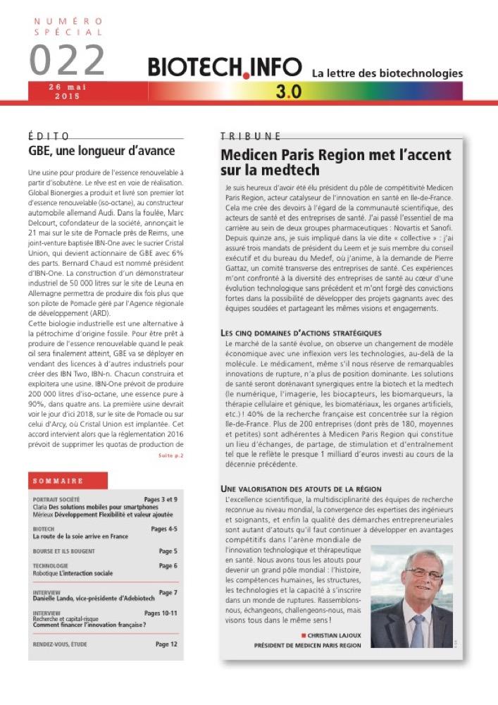 Biotech numéro 022