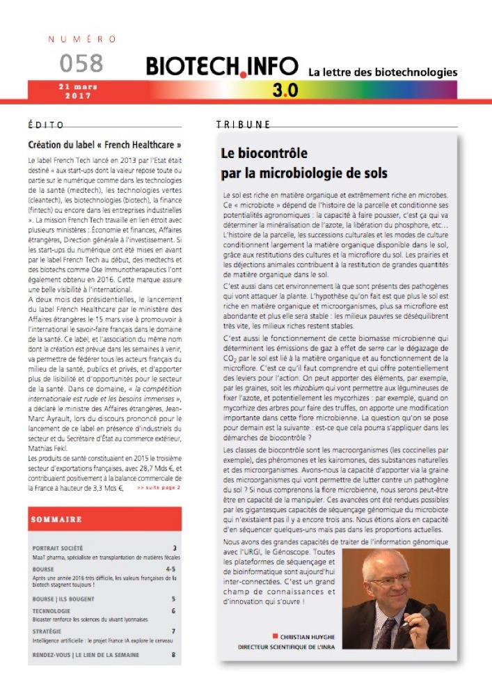 Biotech numéro 058