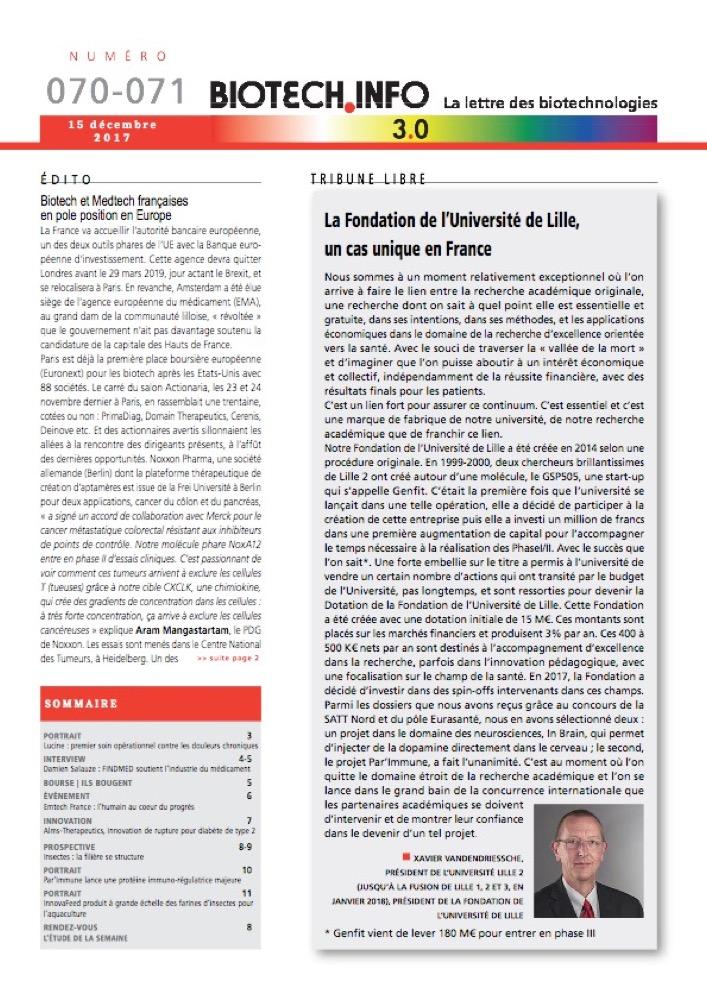 Biotech numéro 070-71