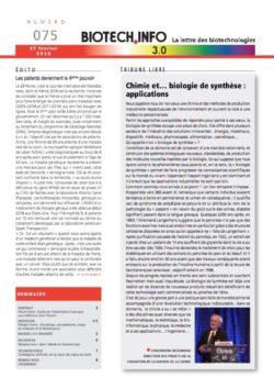 Biotech numéro 075