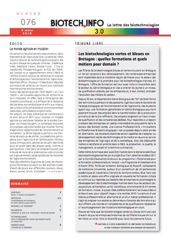 Biotech numéro 076