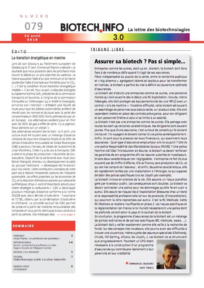 Biotech numéro 079