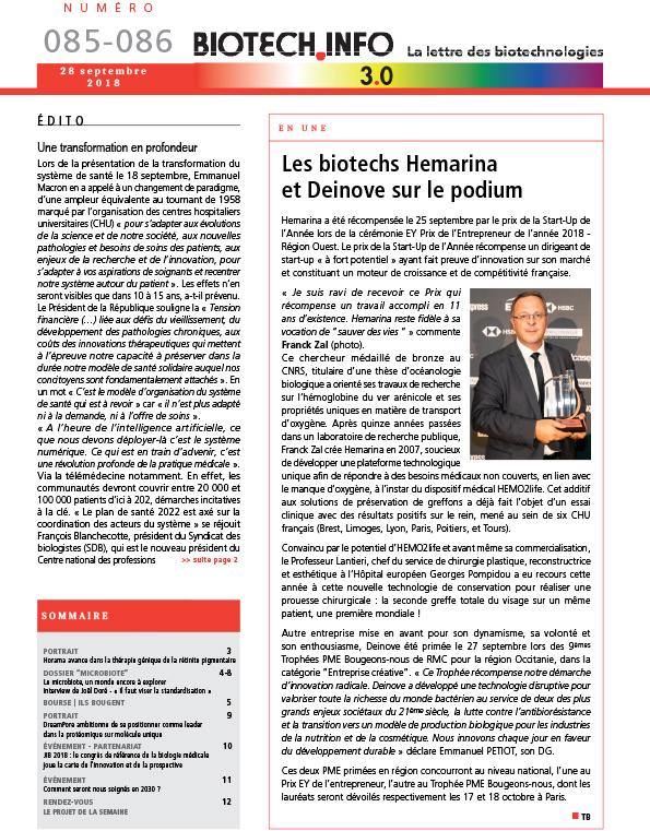 biotech info couvs bti newsletter