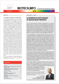 biotech info couvs bti newsletter new une